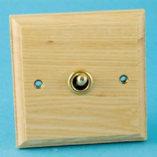 Varilight Kilnwood 1 Gang Intermediate 10A Dolly Toggle Switch, Ash Finish XKT7A